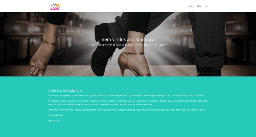 Imagem do site Estudança