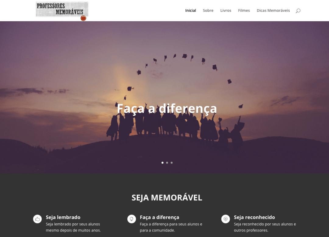 Imagem do site Professores memoráveis
